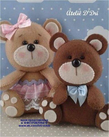 Ursinhos com moldes
