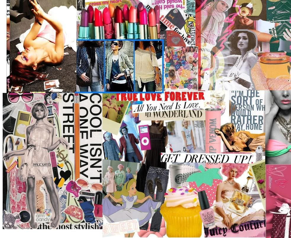Collage Fashion backgrounds pictures fotos