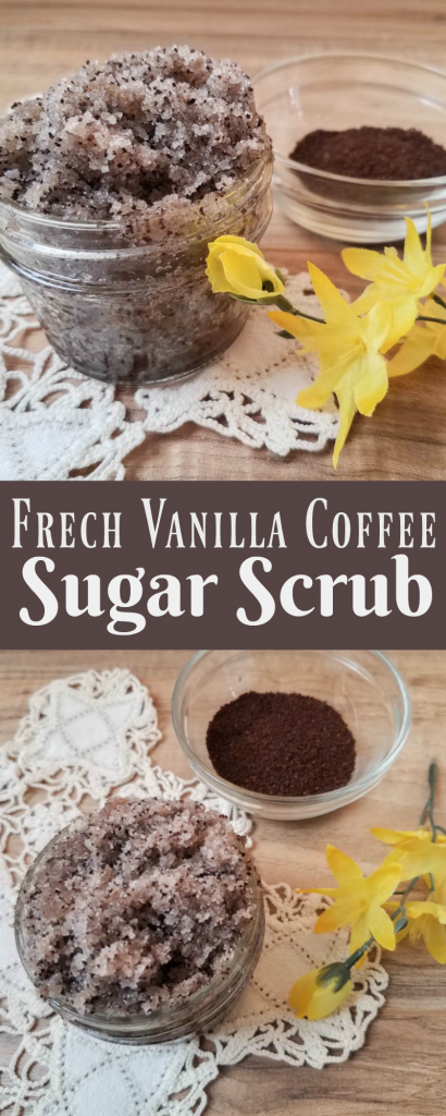 French Vanilla Coffee Sugar Scrub Making your own sugar scrub is so simple, that there really is no reason not to try this easy DIY. Grab my favorite French Vanilla Coffee Sugar Scrub recipe. #sugarscrubrecipe