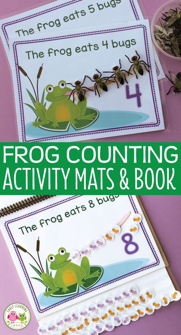 Frog Math Activity: Interactive Counting Book for Preschool, Pre-k ...