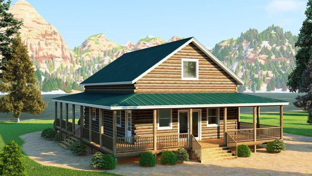 Total Living 1715 S F Log Cabin Kit The Walnut Ridge 40 X 28 X 8 Wall Height 6 X 8 D Logs Kiln Dried Logs Log Cabin Kits Cabin Kits Log Cabin Home Kits