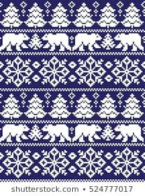 Photo of New Years Christmas Pattern Pixel Stock Vector (Royalty Free) 524777017