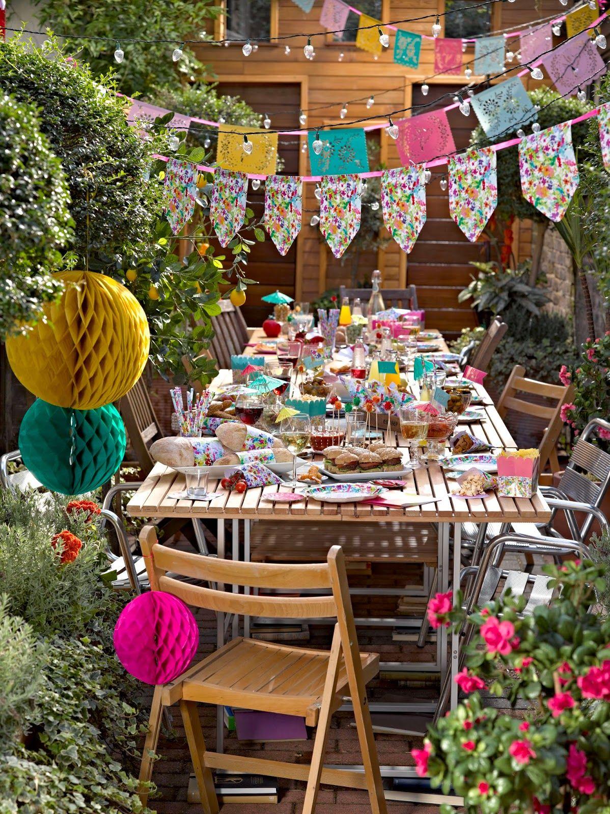 Garden event decor  Cake Junki Garden Party Decorations  Cake Junki  Pinterest