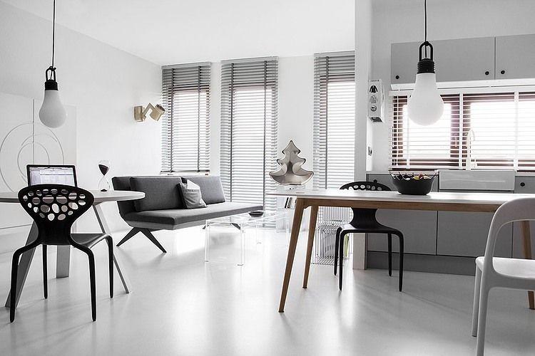 Aluminum jaloezieen 50mm in strak interieur | woonkamer | interior ...