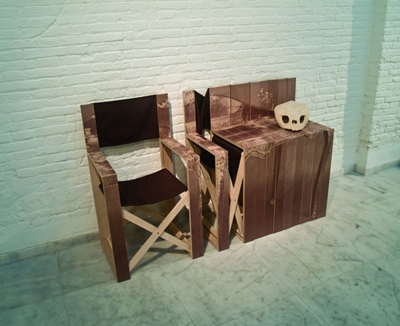 Com Oda Unique Transformable Wood Folding Chair As Side Table Photo