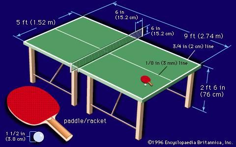 Size Of Ping Pong Tables