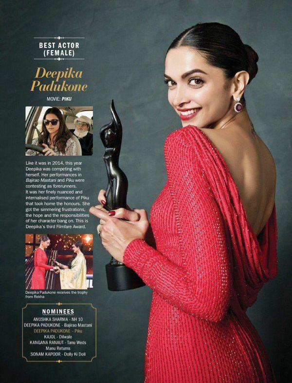 Twitter Deepika Padukone Best Actress Award Best Actress