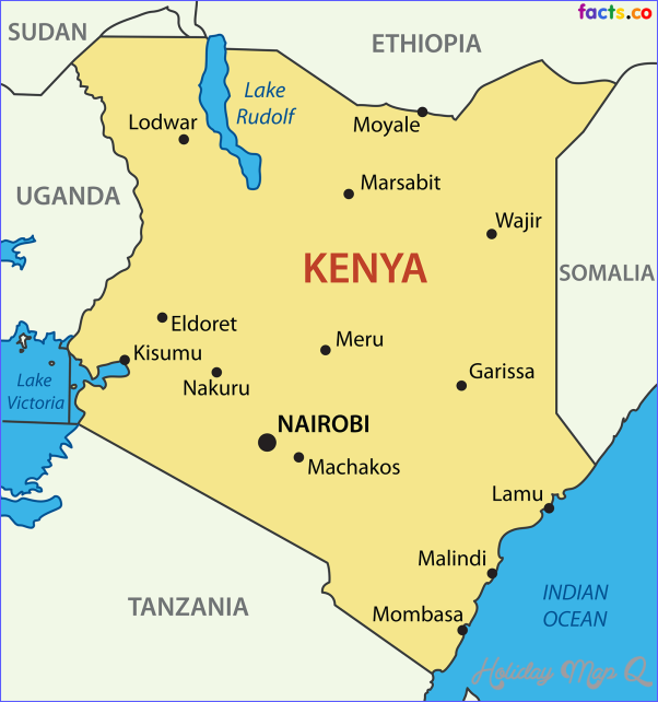 cool Kenya Map | Holidaymapq | Kenya, Kenya flag, Kenya travel