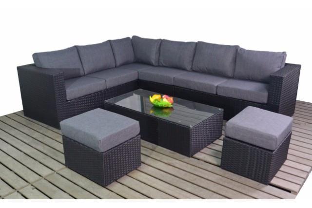 Black rattan garden furniture | Bedroom | Black rattan ...