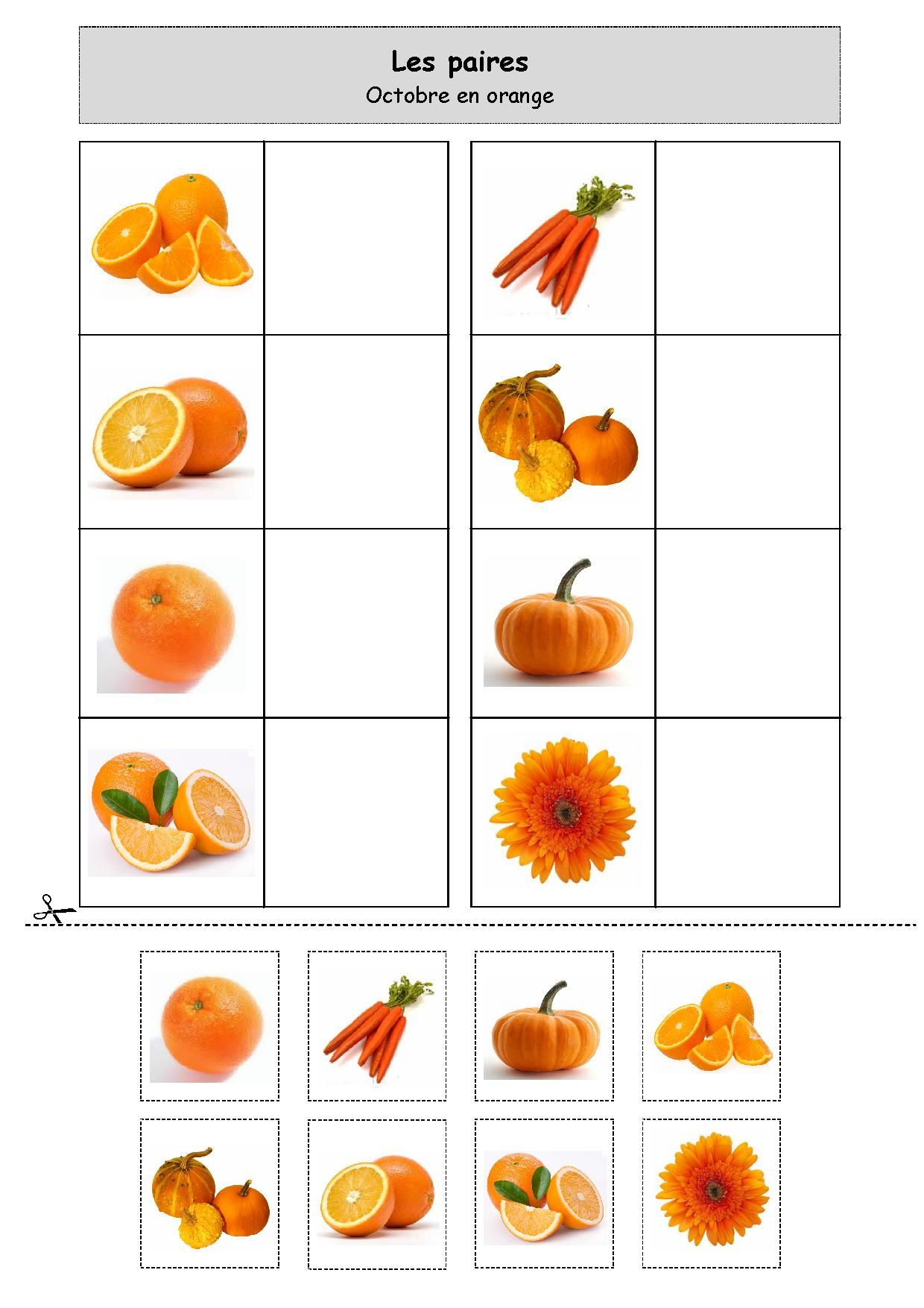 loto orange printemps pinterest maternelle activit et enfant. Black Bedroom Furniture Sets. Home Design Ideas