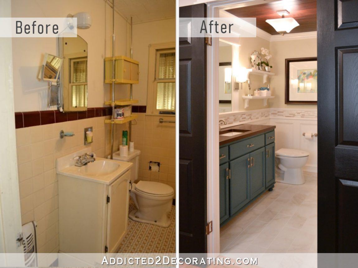 Diy Bathroom Remodel Before And After With Images Diy Bathroom