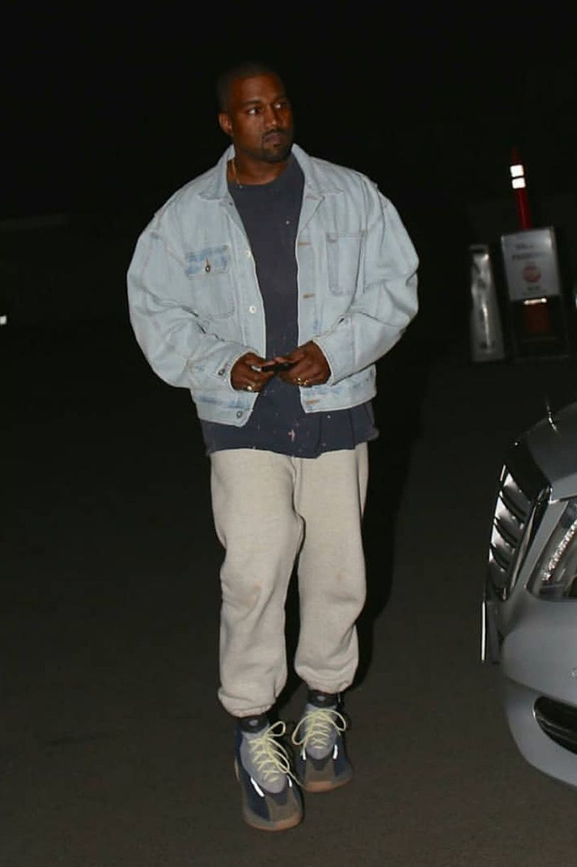 Pin By Wardba On Kanye West Kanye West Outfits Big Men Fashion Dad Fashion