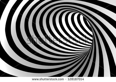 Black And White Abstract Tunnel Stock Photo Arte Blanco