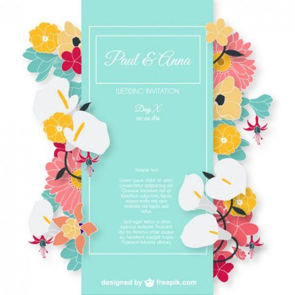 Wedding Card Flowers Invitation Ideas Dm Design Wedding