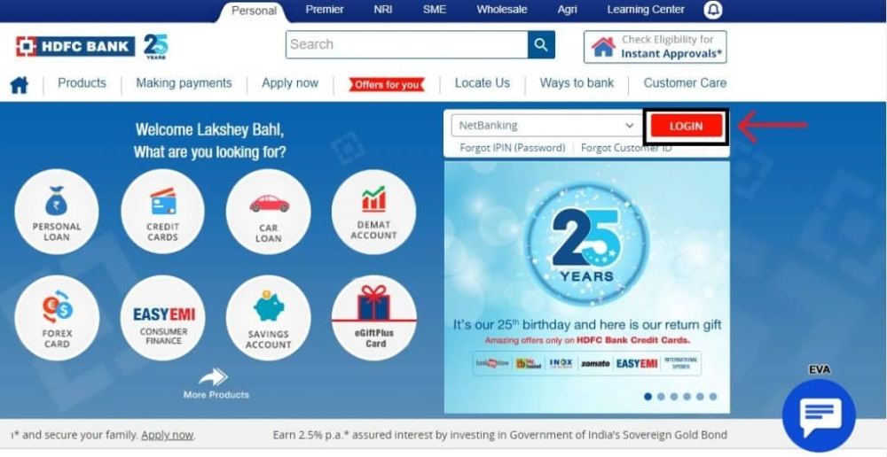 Hdfc Bank Netbanking Login Hdfc Bank Customers Are Provided With A Secure And Easy To Access Online Netbankin Retail Banking Online Activities Security Patches