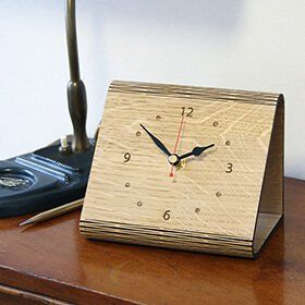 Personalised 'Living Hinge' Wooden Clock: Item number: 3613367111 Currency: GBP Price: GBP39.95