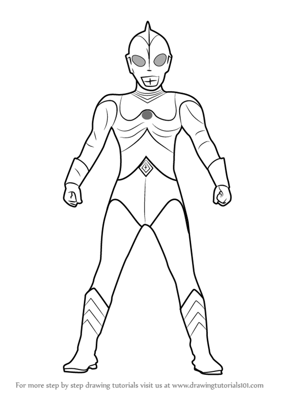 Drawing Colour Ultraman Design