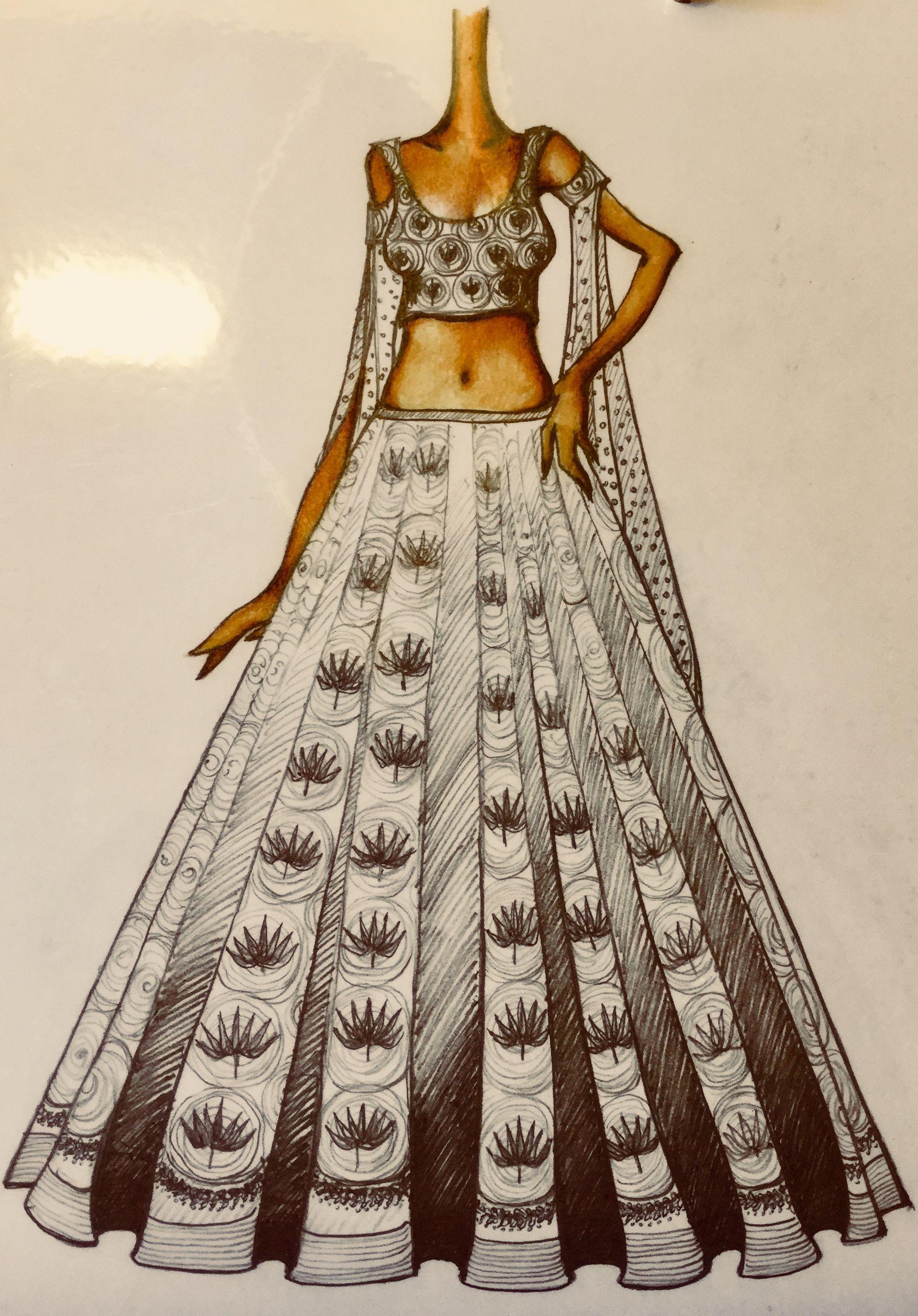 Mohho By A N Handmade Lehenga Bollywood Indianbride Bridal Bridalwear Sketches H Fashion Sketches Dresses Fashion Illustration Sketches Dresses Fashion