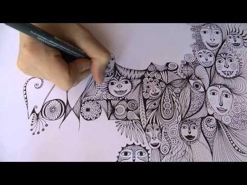 Intuitive Drawing Backwards Ulrike Hirsch Youtube Ulrike