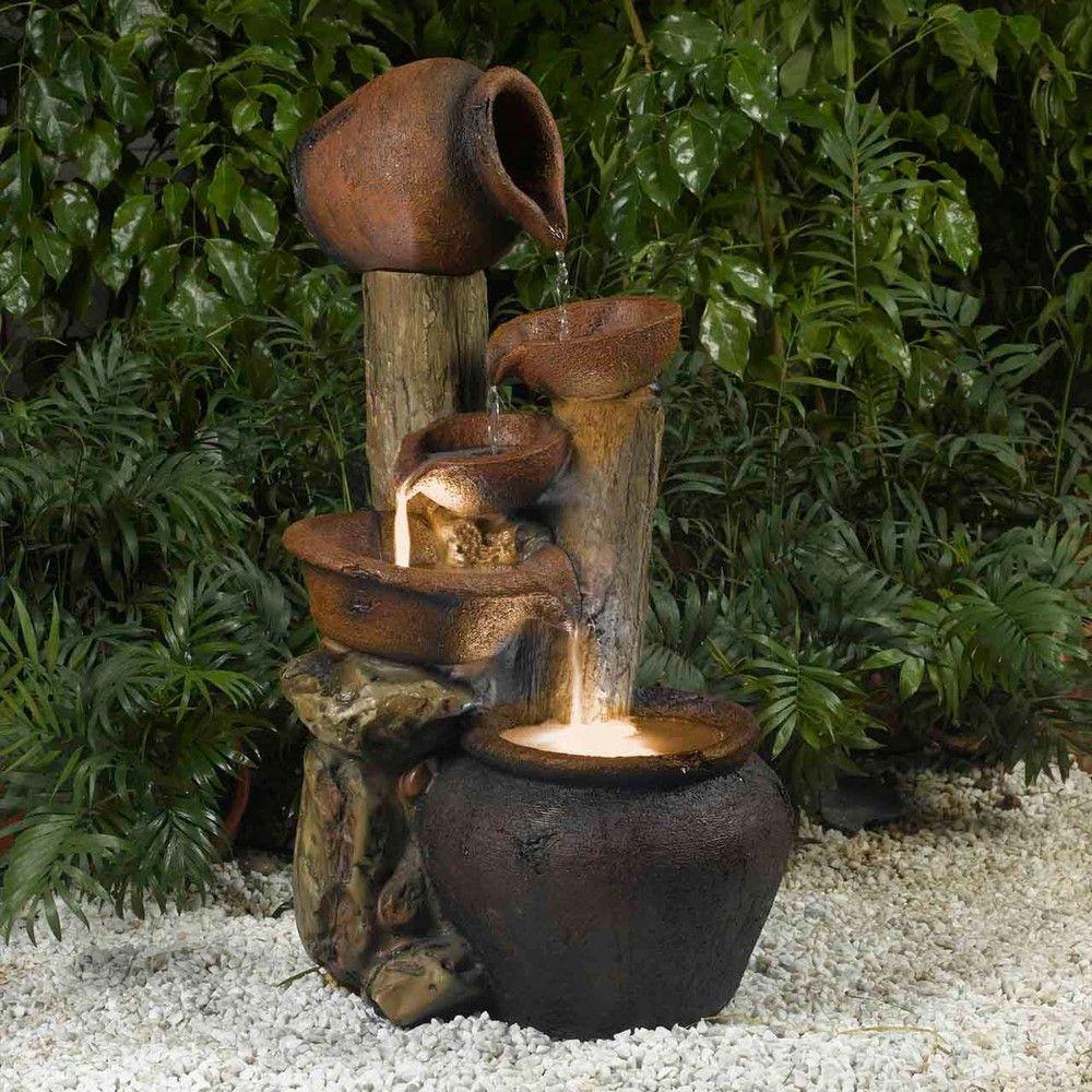 Pentole Pot Illuminated Water Fountain Overstockcom