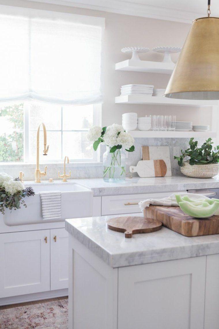 Arbeitsplatte Aus Marmor Wie Schmuckt Man Die Kuche Home Decor