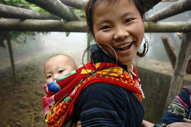 Black Hmong young mother and baby | Flickr - Photo Sharing!