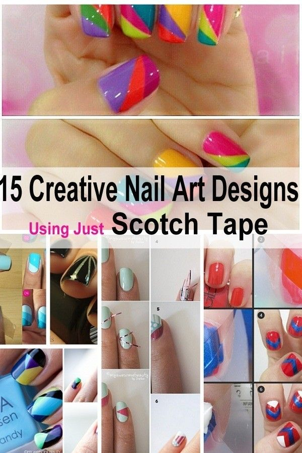 Scotch Tape Nail Art Designs Are Here To Save Your Time And Be More