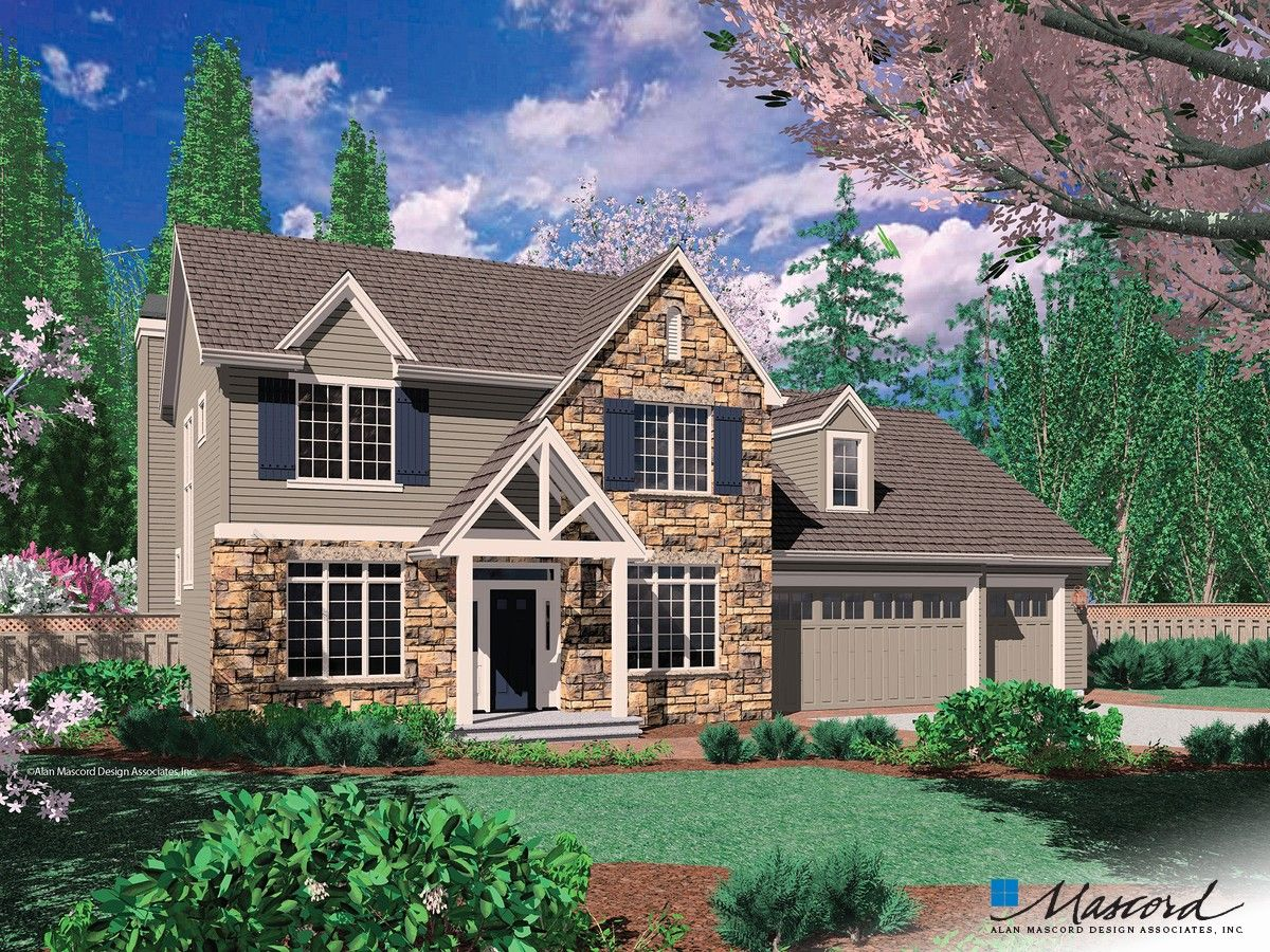 One Of My Favorite Home Designs Mascord Plan 22133 The Norton Craftsman Style House Plans Craftsman House Plans Craftsman House