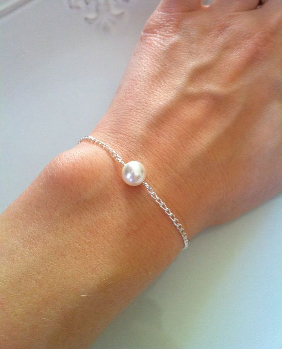 Set Of 4 Bridesmaid Bracelets Pearl By Anainspirations 32 00