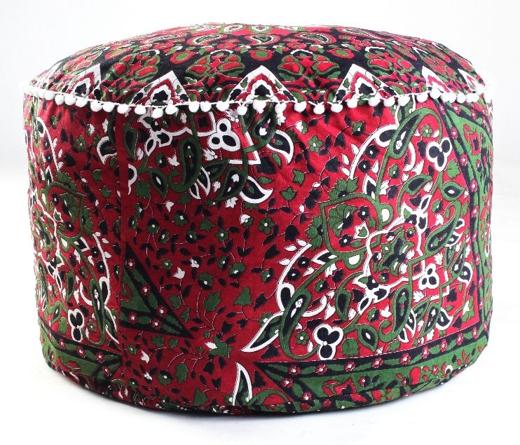Furniture Large Ombre Mandala Ottoman Pouf Ethnic Round Pouf Footstool Floor Pouf Cover And To Have A Long Life. Home, Furniture & Diy