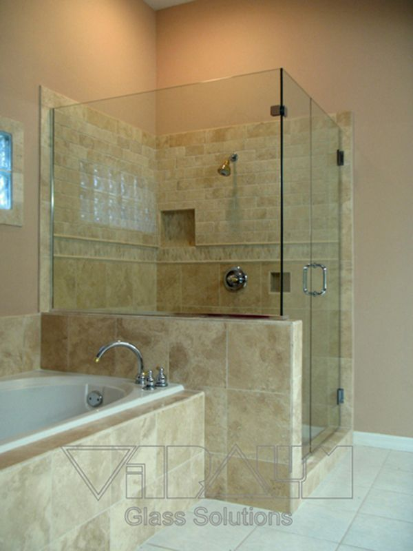 90 Degree Frameless Shower Enclosures Located In Central Florida