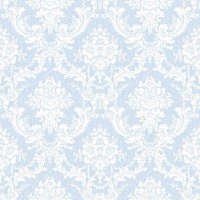 Light Blue Ornate Floral Wallpaper Tileable Background Products I