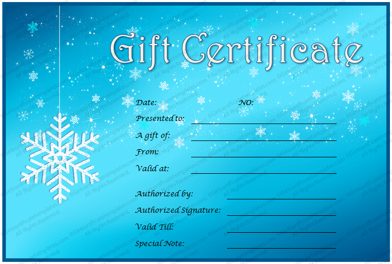 Ice and snow gift certificate template projects to try pinterest ice and snow gift certificate template yadclub Image collections