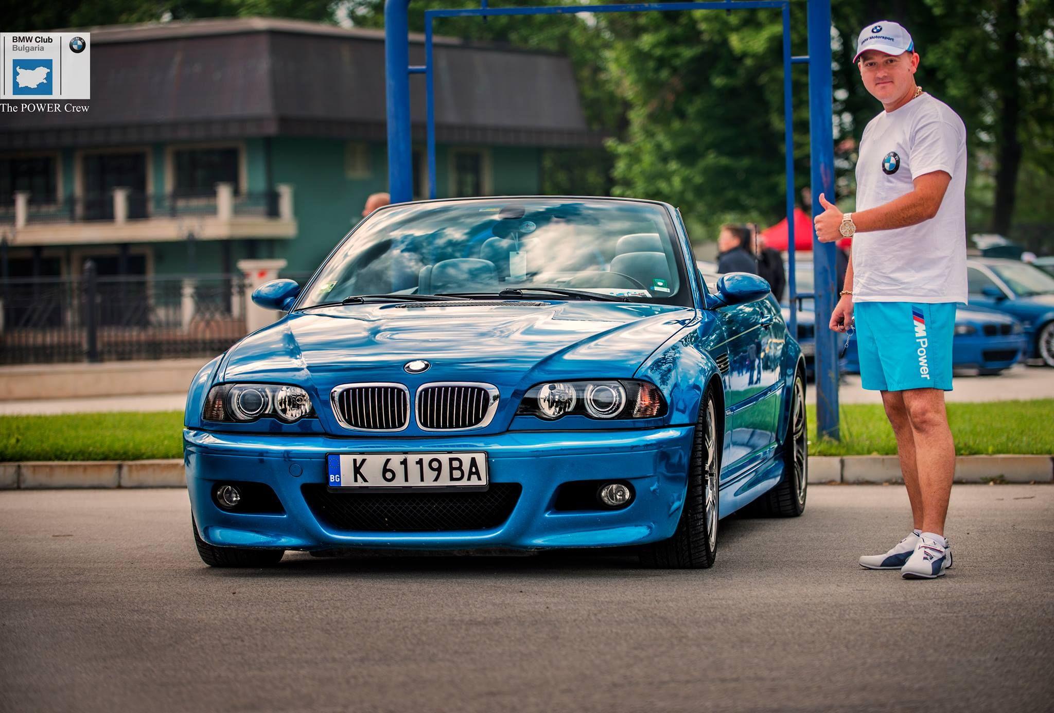 Bmw E46 M3 Convertible Light Blue Bulgaria Plovdiv