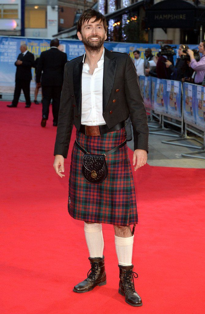 David Tennant Wears Kilt To What We Did On Our Holiday Premiere