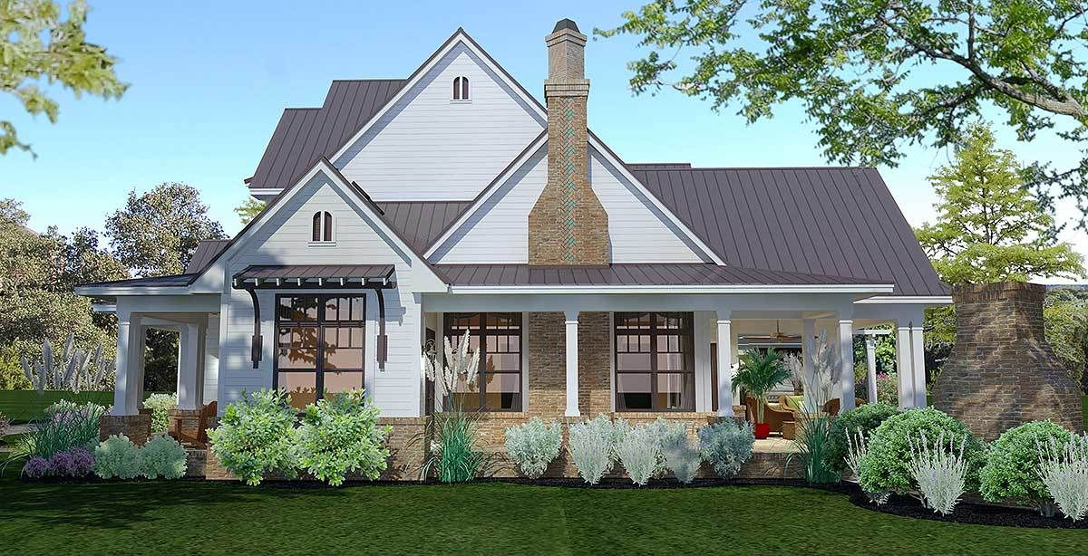 Plan 16853wg Elegant 3 Bed Farmhouse With Great Outdoor Living Spaces Farmhouse Style House Plans Farmhouse Style House Modern Farmhouse Plans