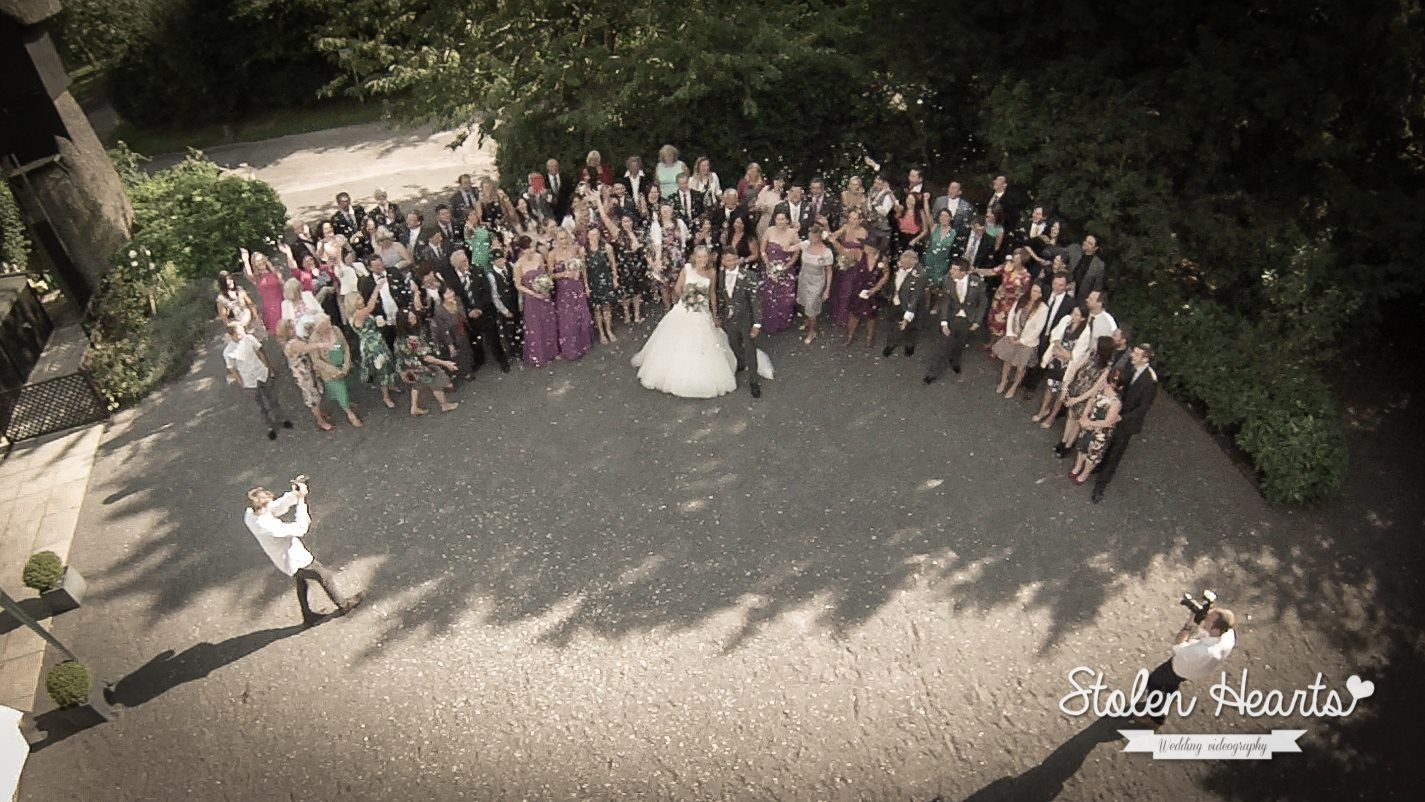Capture your wedding from every angle with our camera equipped Aerial drone. #WeddingVideography #WeddingVideo http://www.stolen-hearts.co.uk/