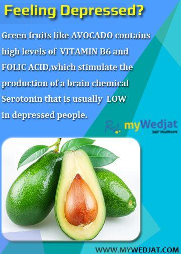 Feeling Depressed? #WedjatHealthFacts #Avocado #FolicAcid #Depression