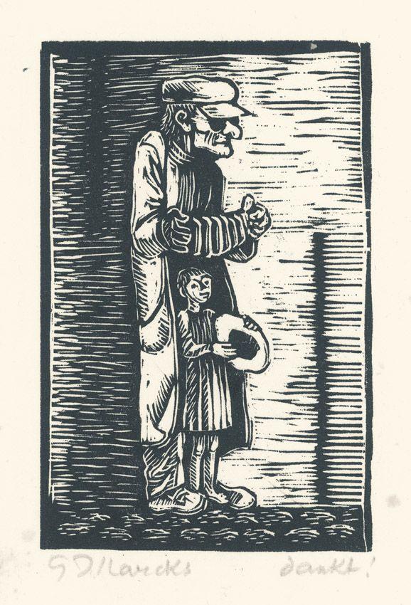 Gerhard Marcks Alter Mann mit Kind