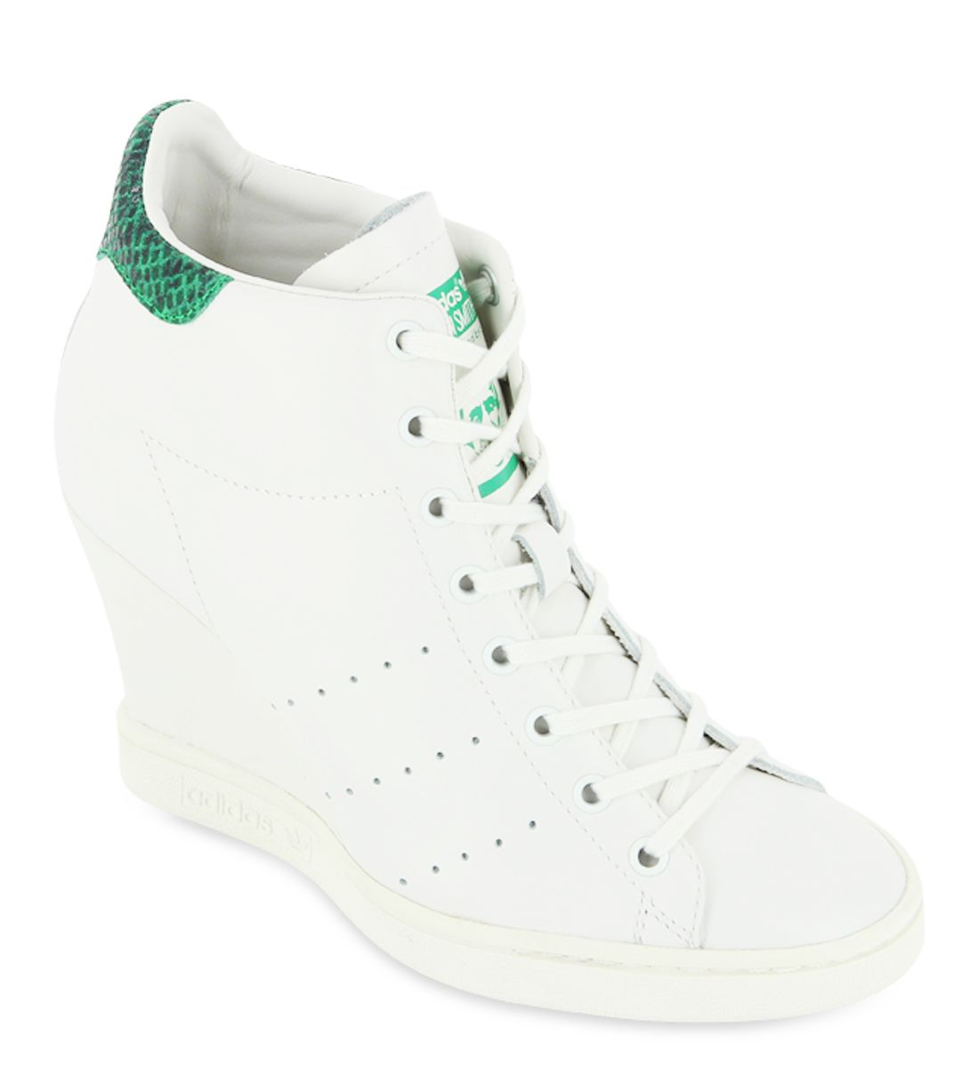 Baskets compensées Stan Smith Adidas Originals Blanc - Galerieslafayette.com
