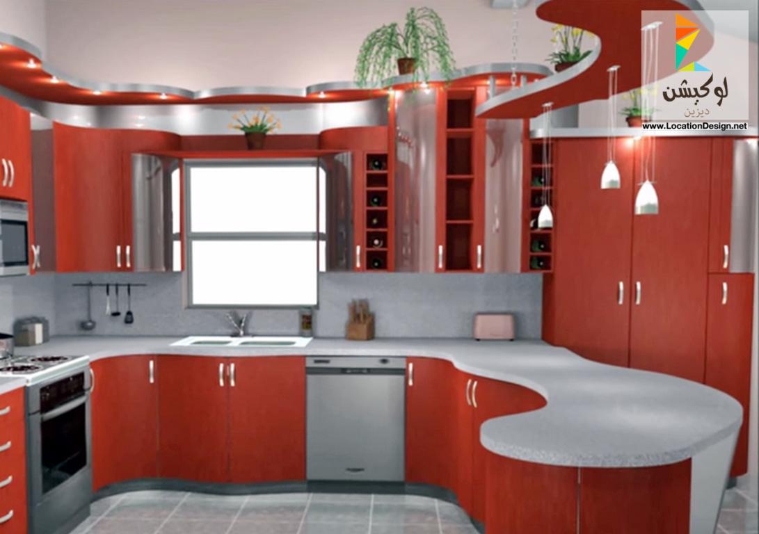 مطابخ باللون الاحمر 50 تصميم مودون لإختيار ديكور مطبخك الخاص لوكشين ديزين نت Kitchen Interior Design Modern Kitchen Wood Design Kitchen Design Decor