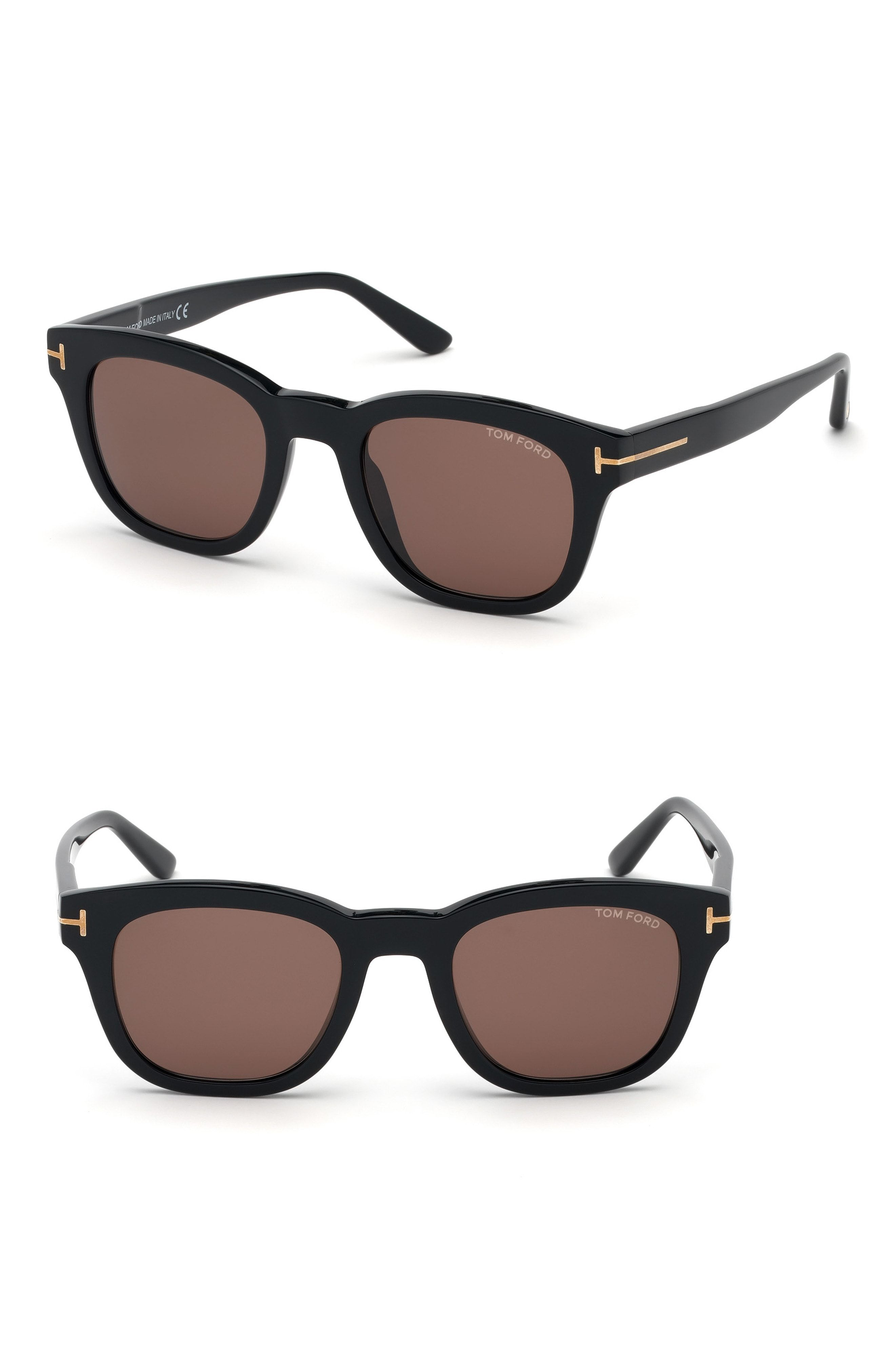 a16b62ea29b TOM FORD EUGENIO 52MM SUNGLASSES - SHINY BLACK  BROWN.  tomford ...