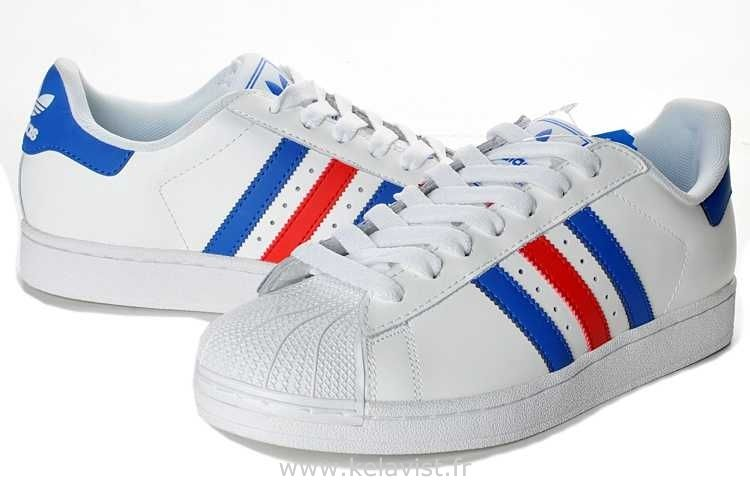 adidas superstar 2 bleu blanc rouge