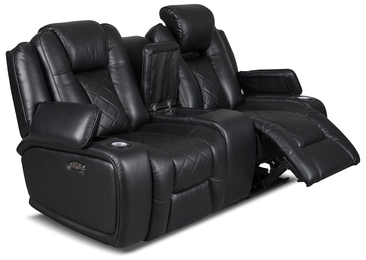 Put Luxury And Convenience Together And You Have This Sleek Lonzo Power Reclining Loveseat Each Armrest Fli Power Reclining Loveseat Love Seat Power Recliners