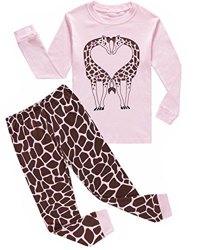7251a52e2bc0 Girls Pajamas Deer Love Long Sleeve Pjs 100% Cotton Kids Clothes ...