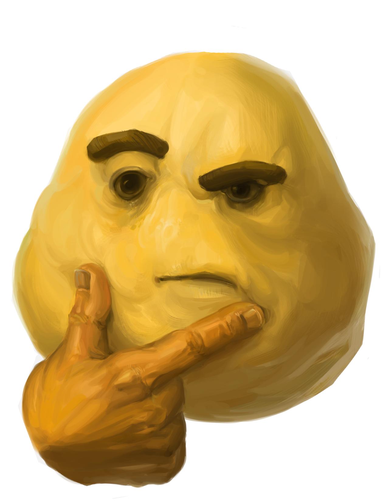 znalezione obrazy dla zapytania thinking emoji meme meme