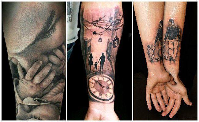 Tatuajes De Hijos Y Sus Diseños Rosas Y Frases Pinterest