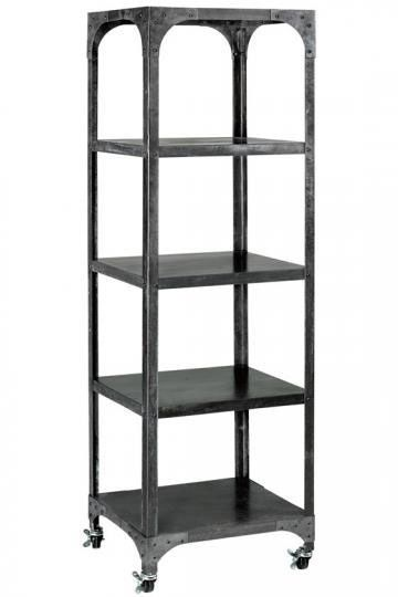 10 Metal Wood Bookshelves For A Warm Industrial Look Bookshelf Styling Home Office Furniture Bookcase