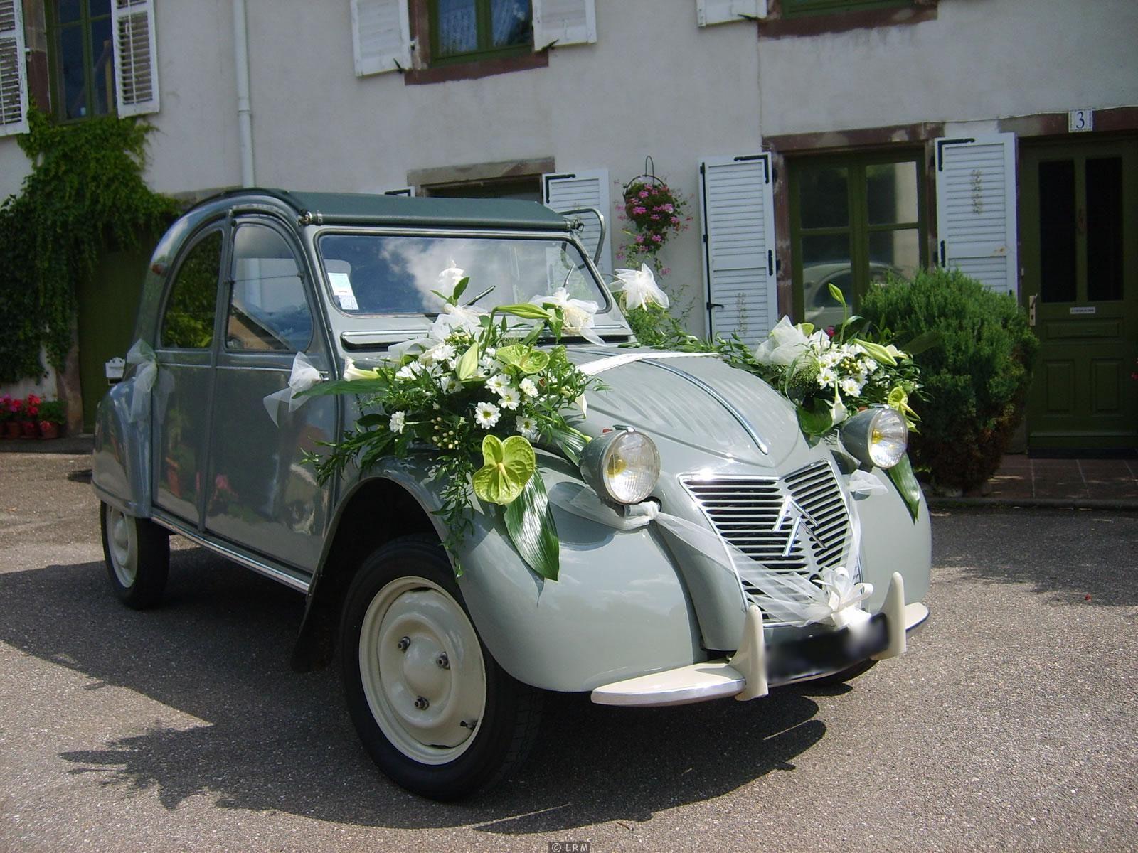 Mariage - Decoration voiture mariage ventouse ...