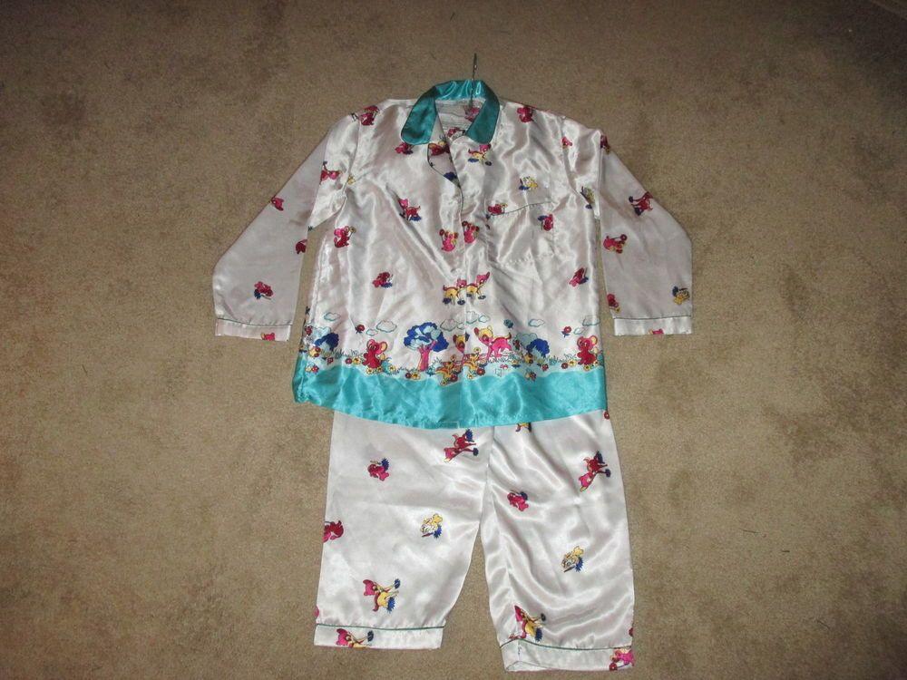 Rare: Vintage Retro Disney Bambi  Silk Pajamas  #Unbranded #PajamaSets